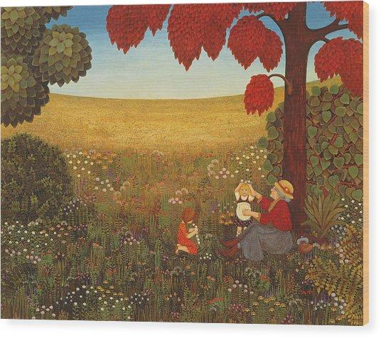 Sunday In Salmansdorf Wood Print