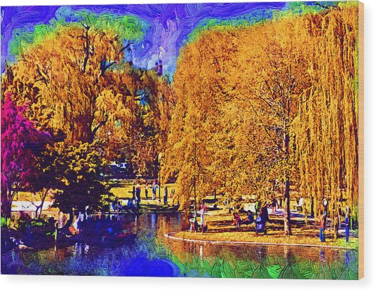 Sunday In The Park Wood Print