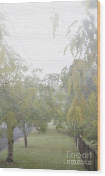 Wood Print featuring the photograph Sunday Street Fog by Vicki Ferrari
