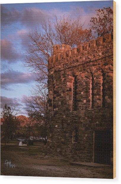 Sundown At Rhineland Castle Wood Print