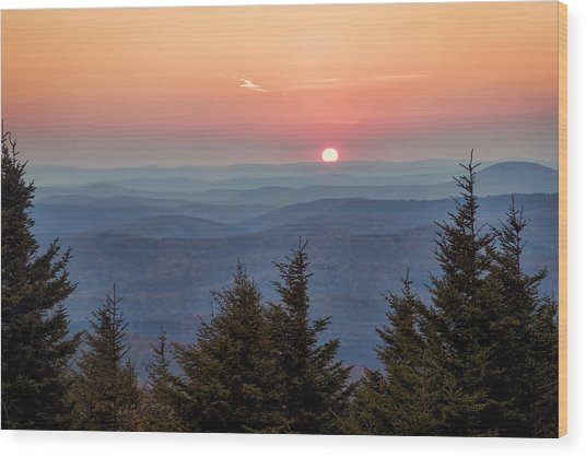 Sundown From Spruce Knob Wood Print