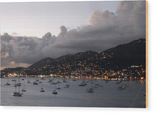 Sundown On St. Thomas Wood Print