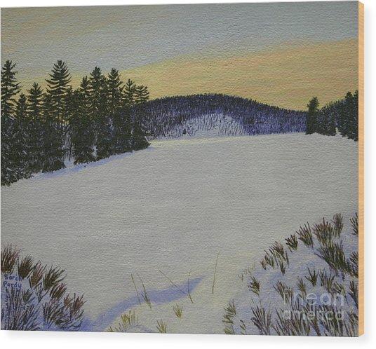 Sundown On Turtle Bay Wood Print