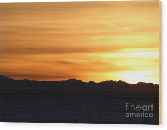 Sundre Sunset Wood Print