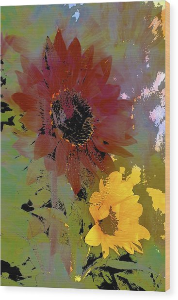 Sunflower 33 Wood Print