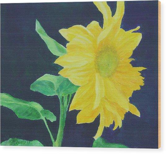 Sunflower Ballet Original Wood Print