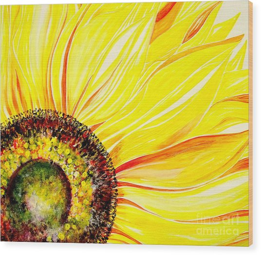 Sunflower Day Wood Print