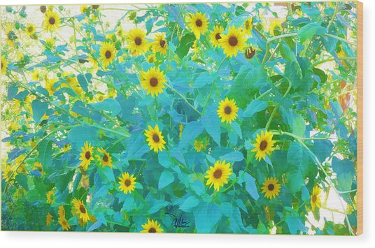 Sunflower Forest Wood Print