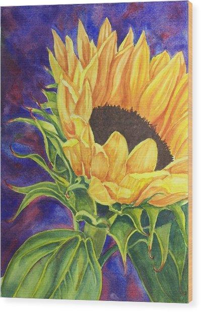 Sunflower II Wood Print
