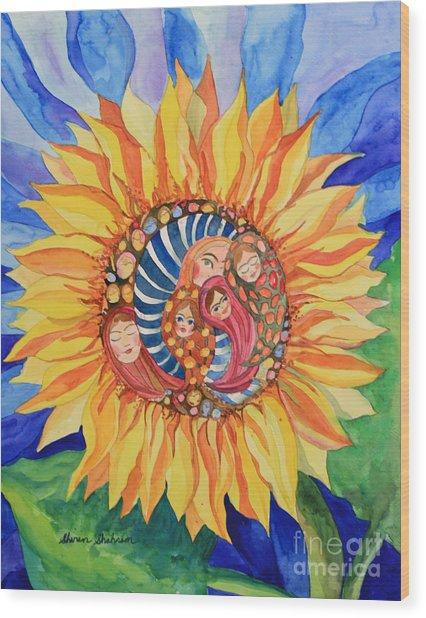Sunflower Seeds Of Hope Wood Print