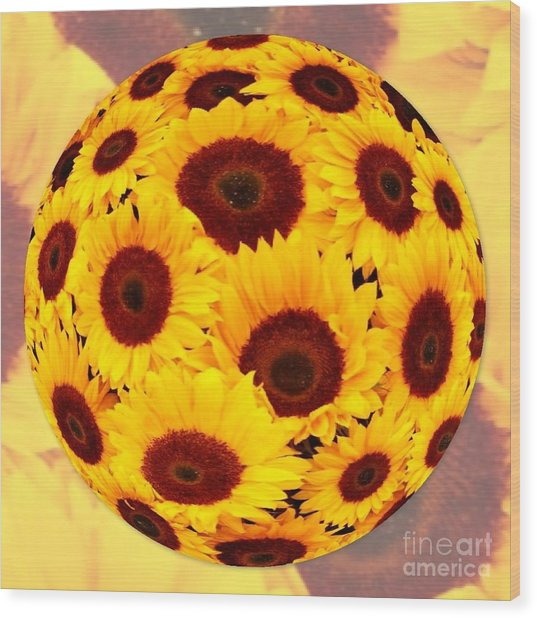 Sunflower Sunshine Wood Print