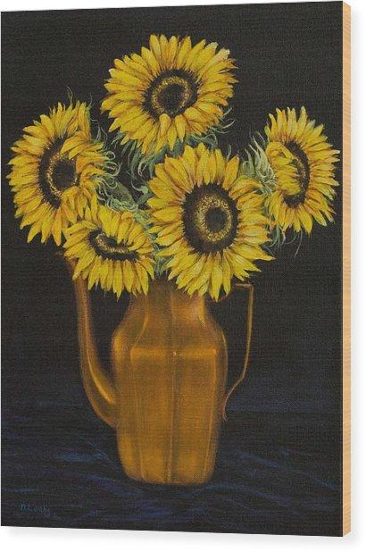 Sunflower Tea Wood Print