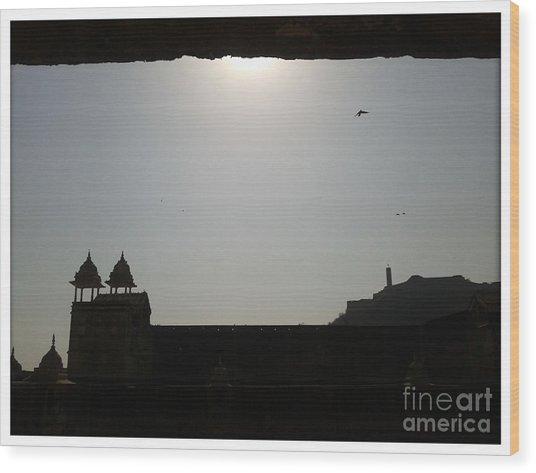 Sunfort Wood Print by Ankit Garg