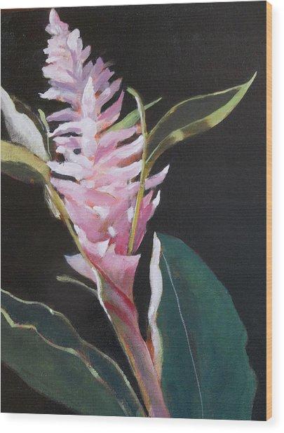 Sunlight Ginger Blosom Wood Print by Walt Maes