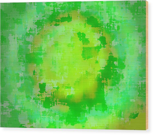 Original Abstract Art Painting Sunlight In The Trees  Wood Print