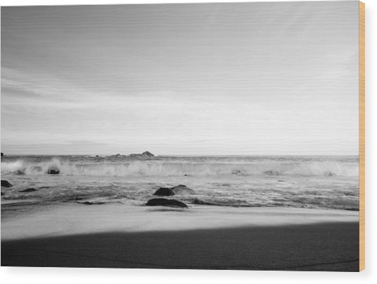 Sunlight On Beach Wood Print