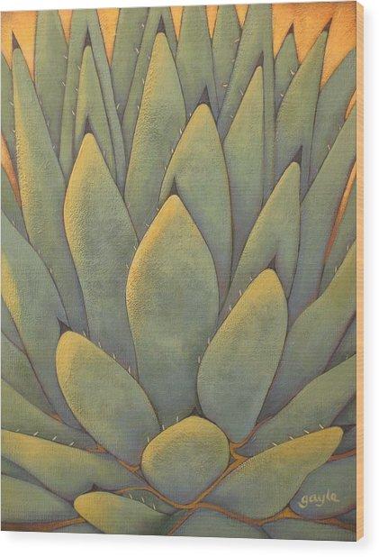 Sunlit Agave Wood Print