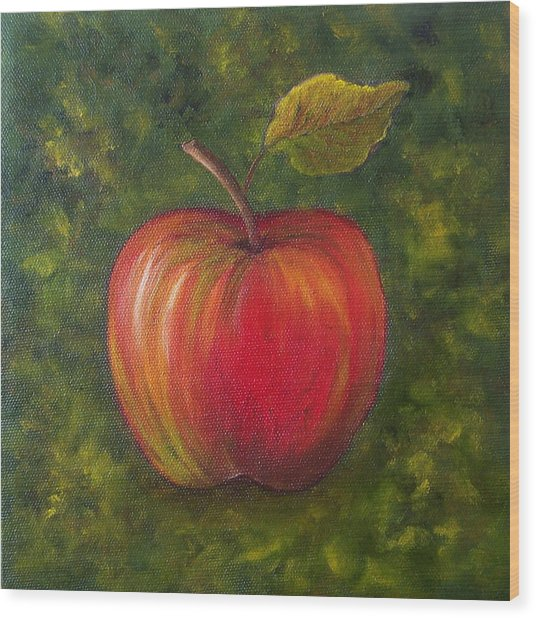 Sunlit Apple Sold Wood Print