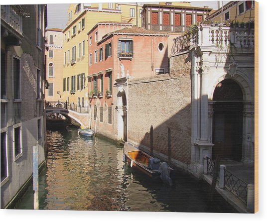 Venice Sunny Afternoon Wood Print