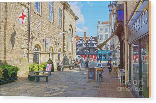 Sunny Day In Salisbury Wood Print