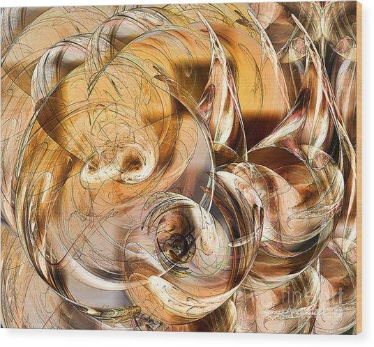 Sunny Luminance  Wood Print by Leona Arsenault