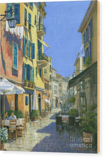 Sunny Side Of The Street 30 X 40 - Sold Wood Print