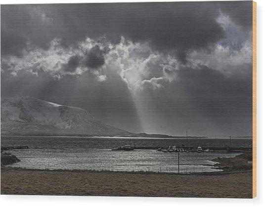 Sunray Wood Print by Frank Olsen