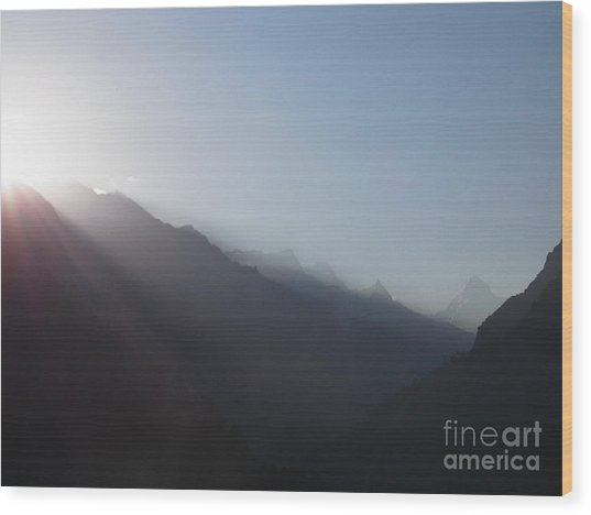 Sunrise Above Gangotri Wood Print