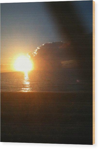 Sunrise And Sand Wood Print