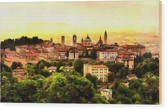 Sunrise At Bergamo Wood Print