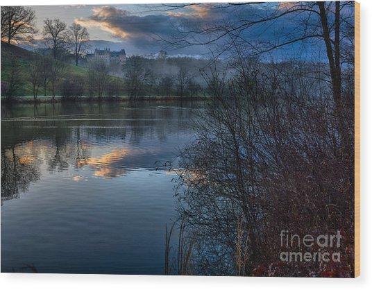 Sunrise At  Biltmore Estate Wood Print
