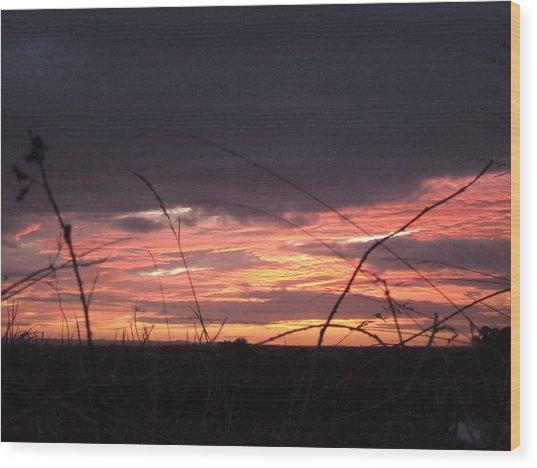 Sunrise At Boroughbridge Wood Print