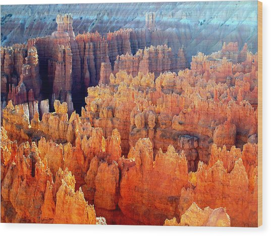 Sunrise At Bryce Canyon Wood Print