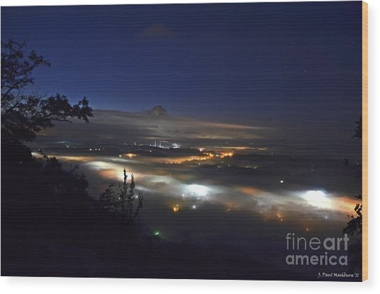 Sunrise At Buzzard's Bluff Wood Print