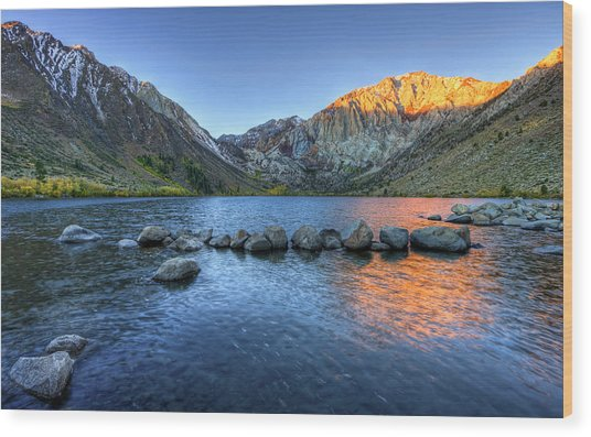 Sunrise At Convict Lake Wood Print