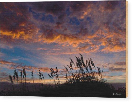 Sunrise At Hatteras Wood Print by John Pagliuca