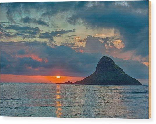 Sunrise At Kualoa Park Wood Print