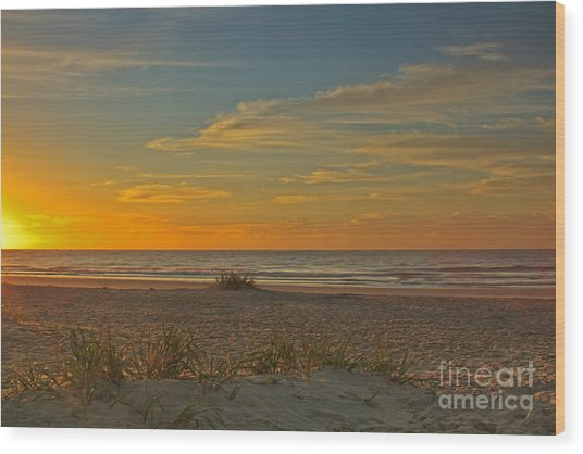 Sunrise At Pawleys Island I Wood Print