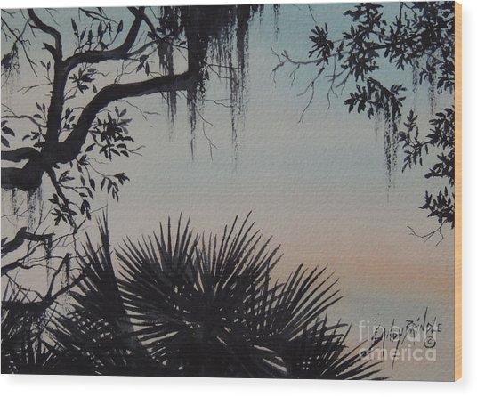 Sunrise At Shellmans Bluff Wood Print