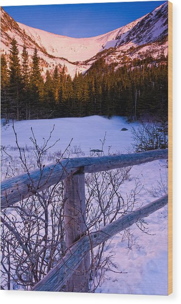 Sunrise At Tuckerman's With Fence 2 Wood Print