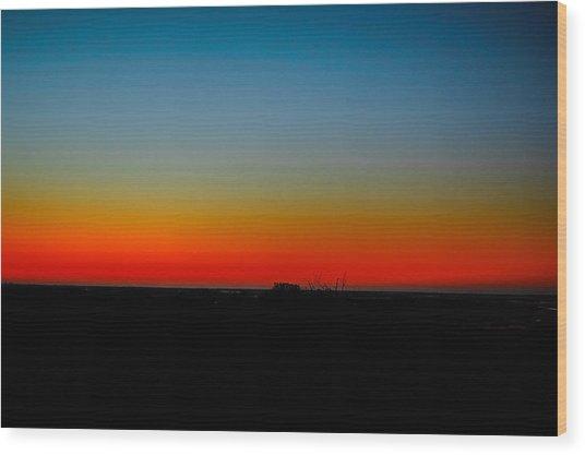 Sunrise At Turkey Point Dividing Creek New Jersey Wood Print