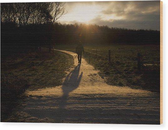 Sunrise Atmosphere Wood Print