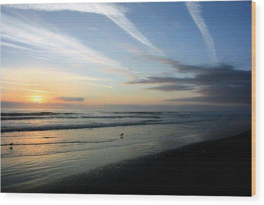 Sunrise Beach Wood Print