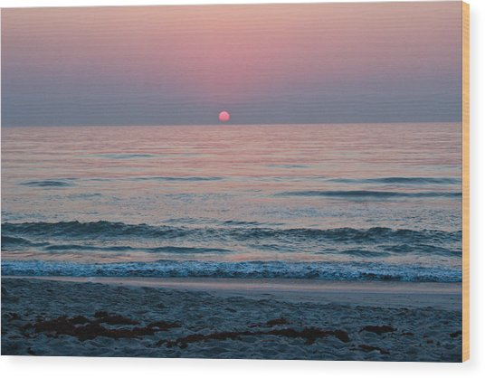 Sunrise Blush Wood Print
