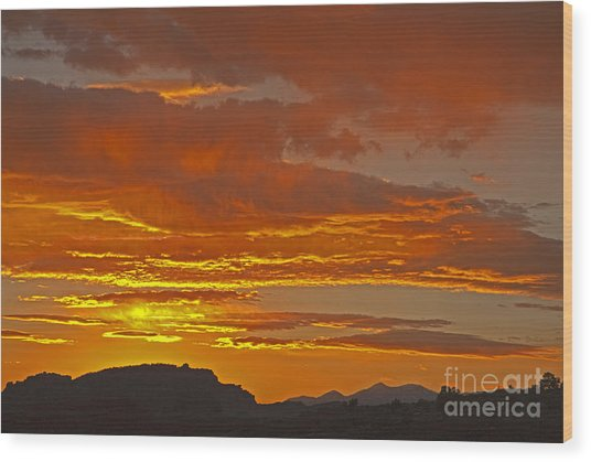 Sunrise Capitol Reef National Park Wood Print