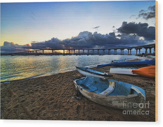 Sunrise - Coronado Bridge Wood Print