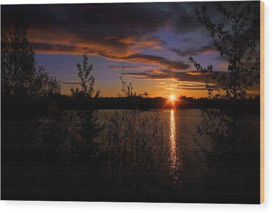 Sunrise Fairbanks Alaska Wood Print