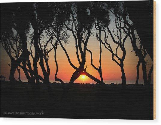 Sunrise Fort Fisher Wood Print