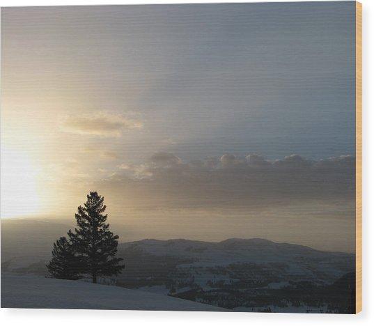 Sunrise From Blacktail Plateau 05 Wood Print