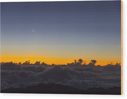 Sunrise Haleakala Volcano Wood Print by Norman Blume